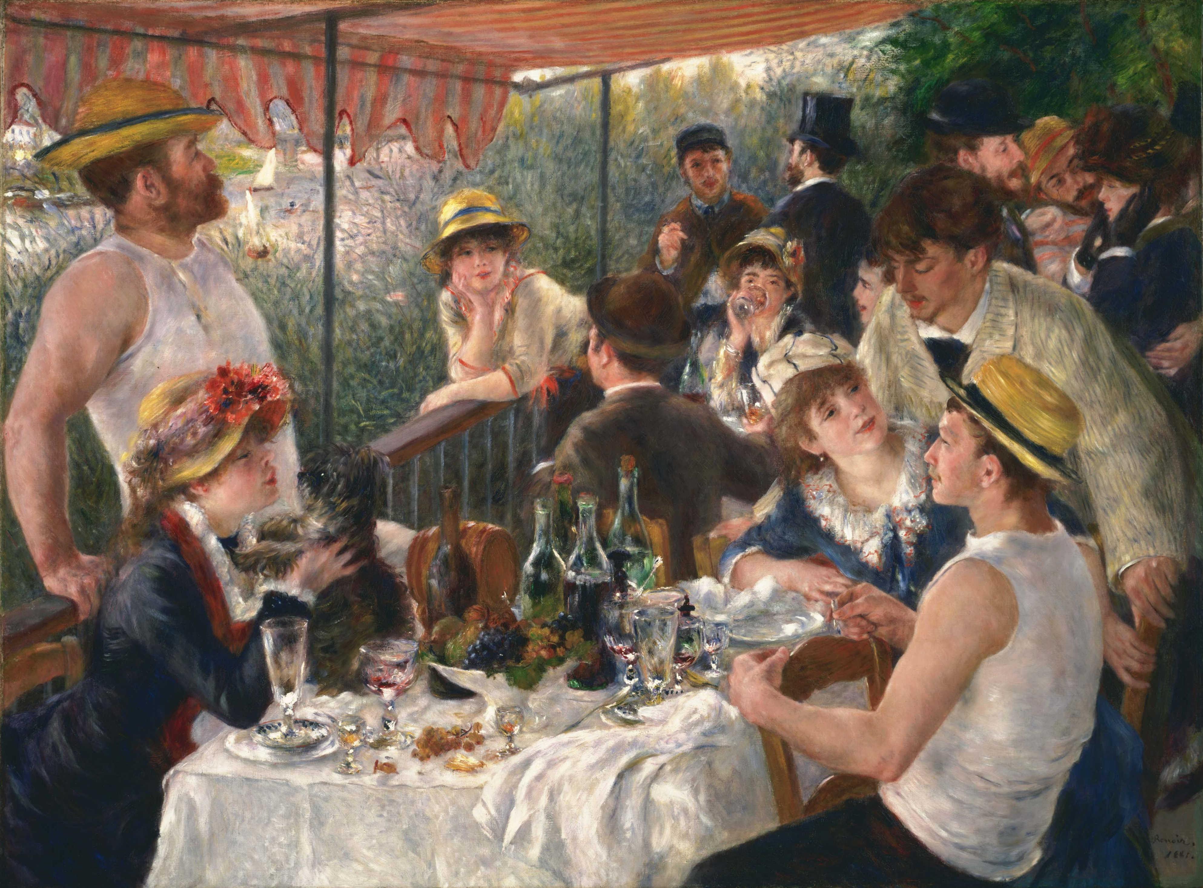 Pierre-Auguste Renoir - Lunch van de roeiers - 1881